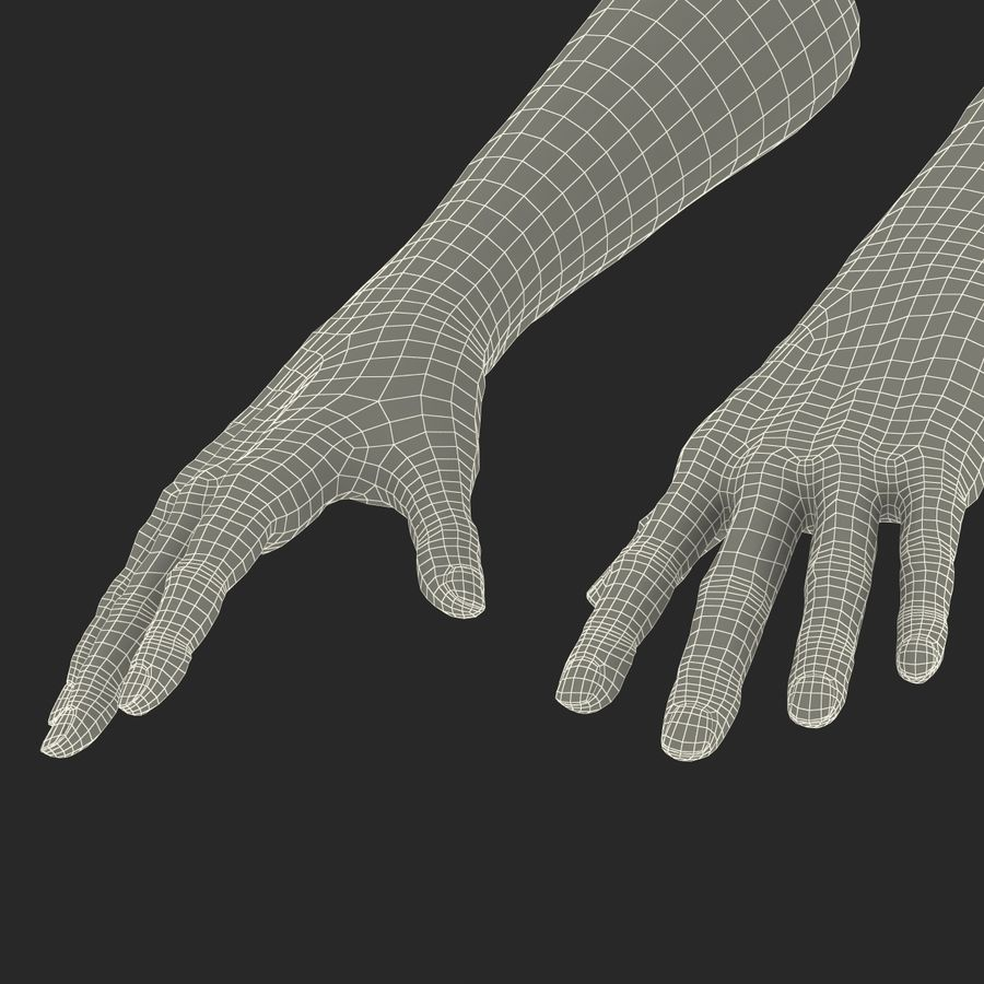 Old Man Hands 2 royalty-free 3d model - Preview no. 33