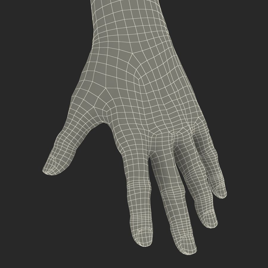 Old Man Hands 2 royalty-free 3d model - Preview no. 36