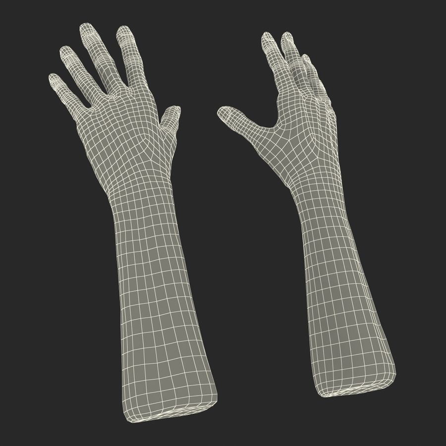Old Man Hands 2 royalty-free 3d model - Preview no. 31