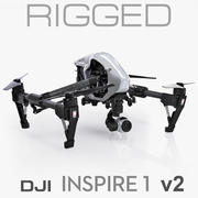 DJI Inspire 1 v2 (only the 3ds Max file is rigged) 3d model
