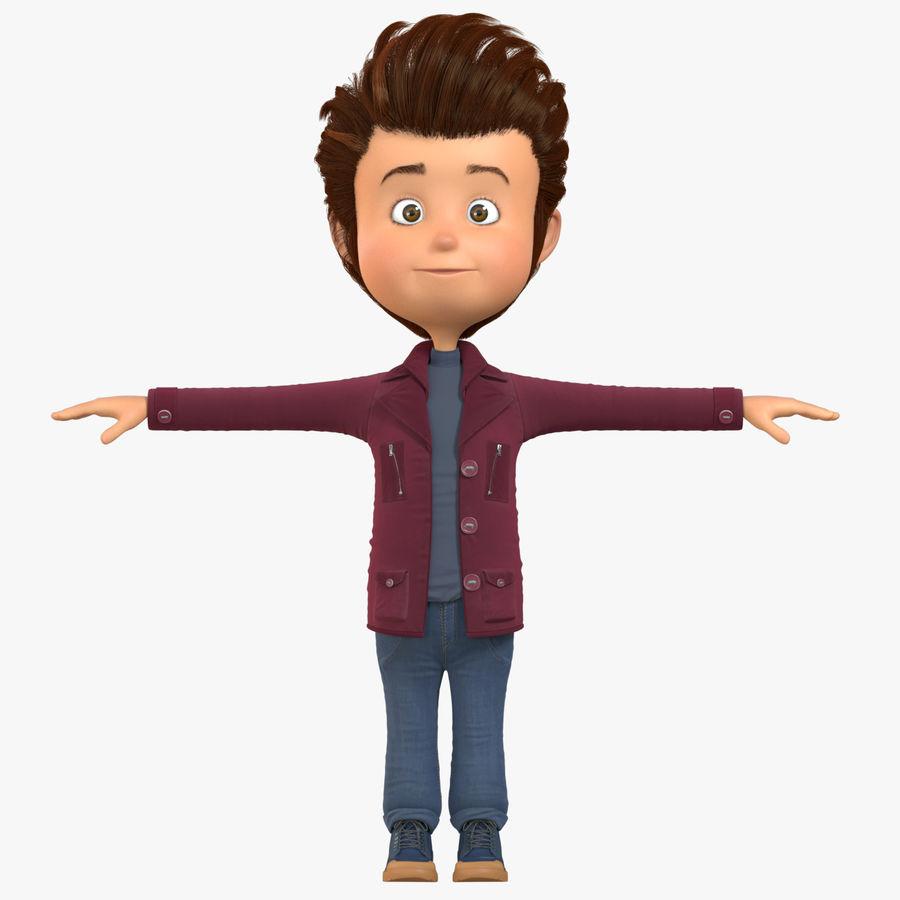 Postać z kreskówki chłopiec nie jest uzbrojony royalty-free 3d model - Preview no. 12