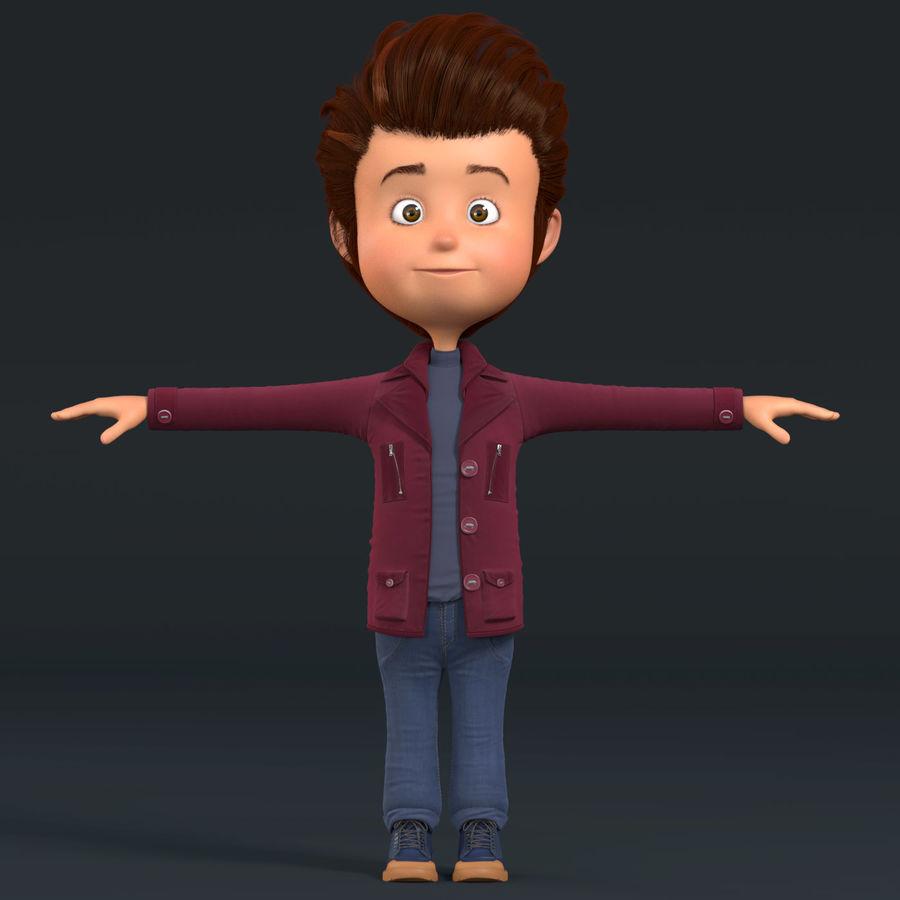 Postać z kreskówki chłopiec nie jest uzbrojony royalty-free 3d model - Preview no. 14
