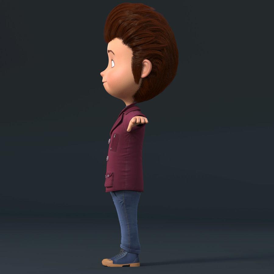 Postać z kreskówki chłopiec nie jest uzbrojony royalty-free 3d model - Preview no. 19