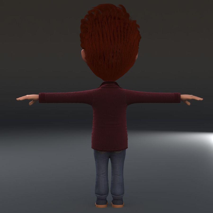 Postać z kreskówki chłopiec nie jest uzbrojony royalty-free 3d model - Preview no. 6