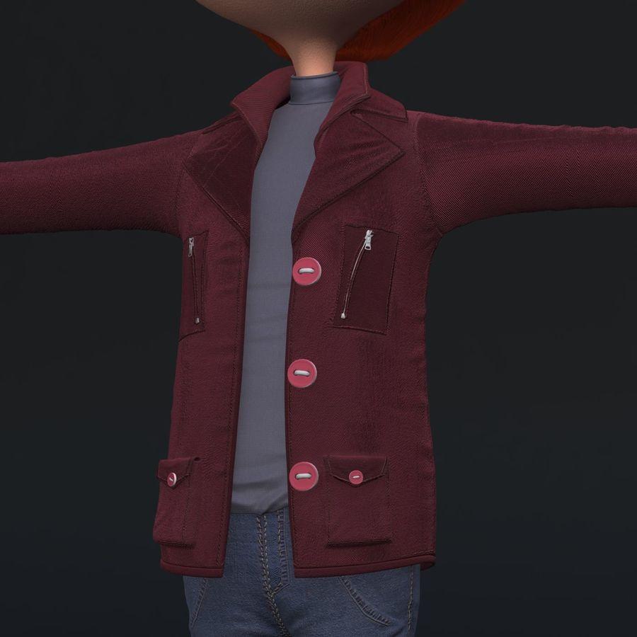 Postać z kreskówki chłopiec nie jest uzbrojony royalty-free 3d model - Preview no. 3