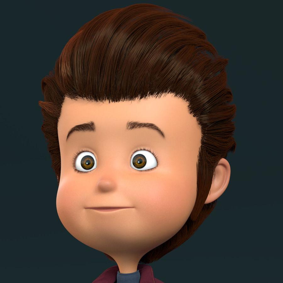 Postać z kreskówki chłopiec nie jest uzbrojony royalty-free 3d model - Preview no. 15