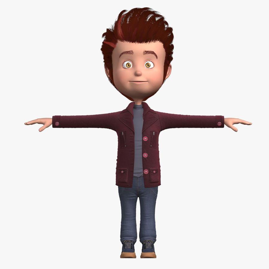 Postać z kreskówki chłopiec nie jest uzbrojony royalty-free 3d model - Preview no. 1