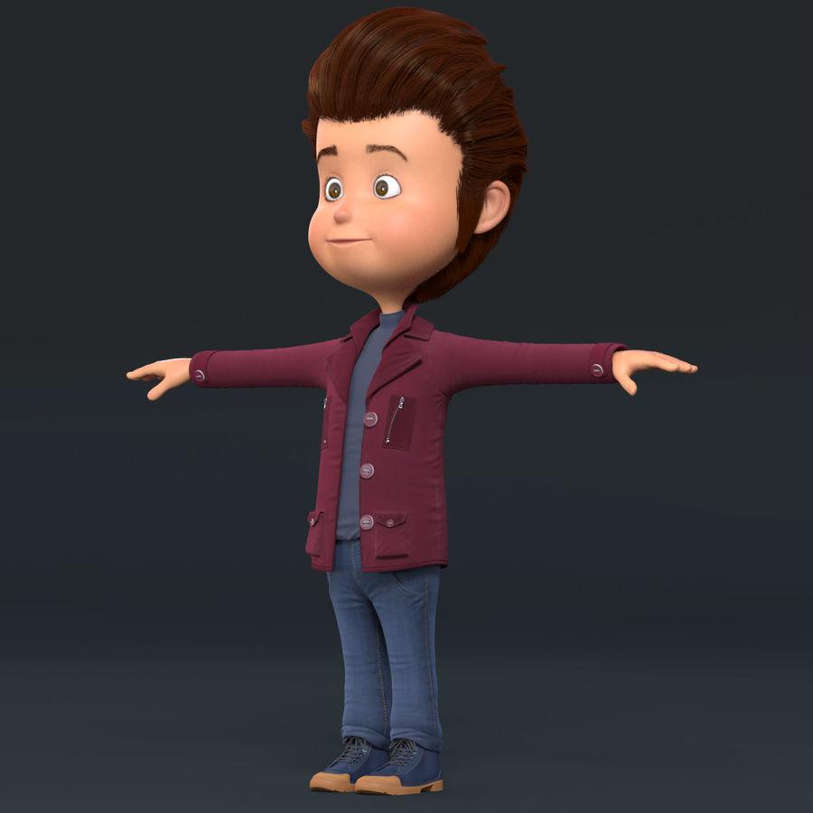 Postać z kreskówki chłopiec nie jest uzbrojony royalty-free 3d model - Preview no. 17
