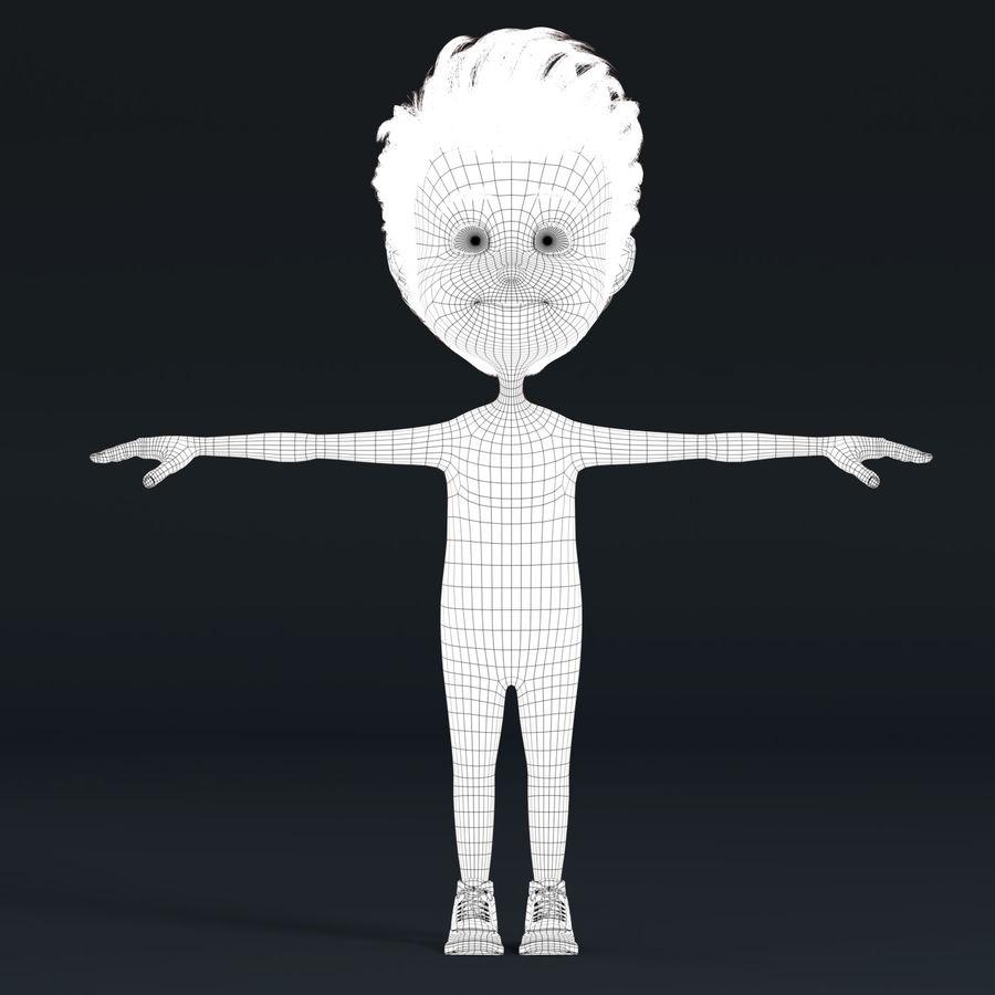 Postać z kreskówki chłopiec nie jest uzbrojony royalty-free 3d model - Preview no. 8