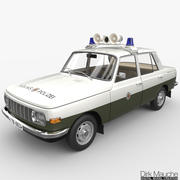 Wartburg 353 Volkspolizei 3d model