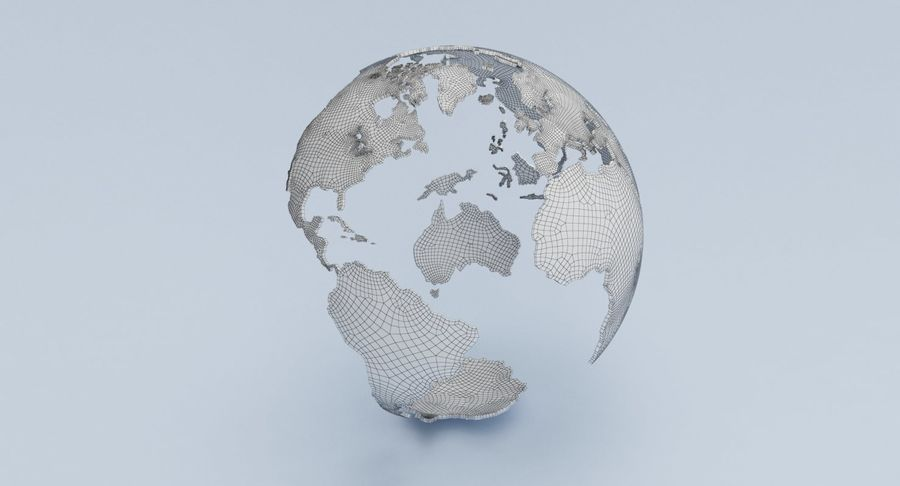Eagle holding Globe royalty-free 3d model - Preview no. 18