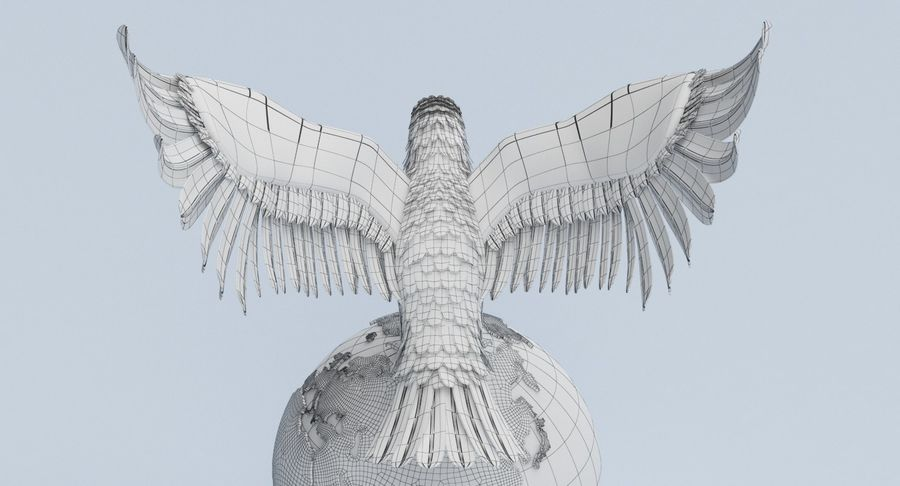 Eagle holding Globe royalty-free 3d model - Preview no. 12
