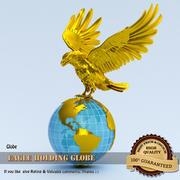 Eagle holding Globe 3d model