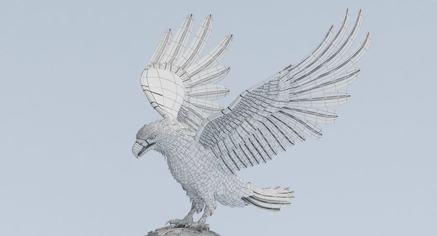 Eagle holding Globe royalty-free 3d model - Preview no. 11