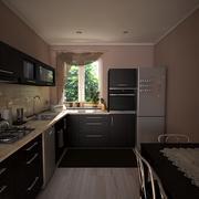 Escena de la cocina modelo 3d