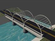 piccolo ponte di gioco 3d model