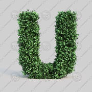 黄雀字母表U 3d model