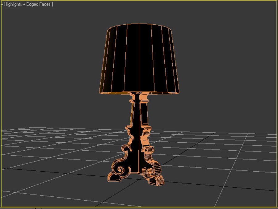 Lampa Kartell Bourgie royalty-free 3d model - Preview no. 6