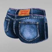 Jeans cortos modelo 3d