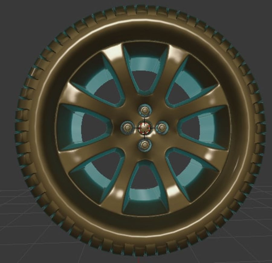 Custom Wheel - Eon royalty-free 3d model - Preview no. 3