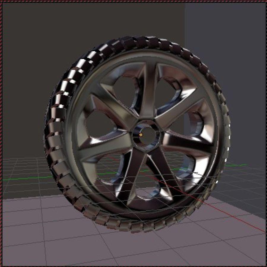 Custom Wheel - Homebrew royalty-free 3d model - Preview no. 4