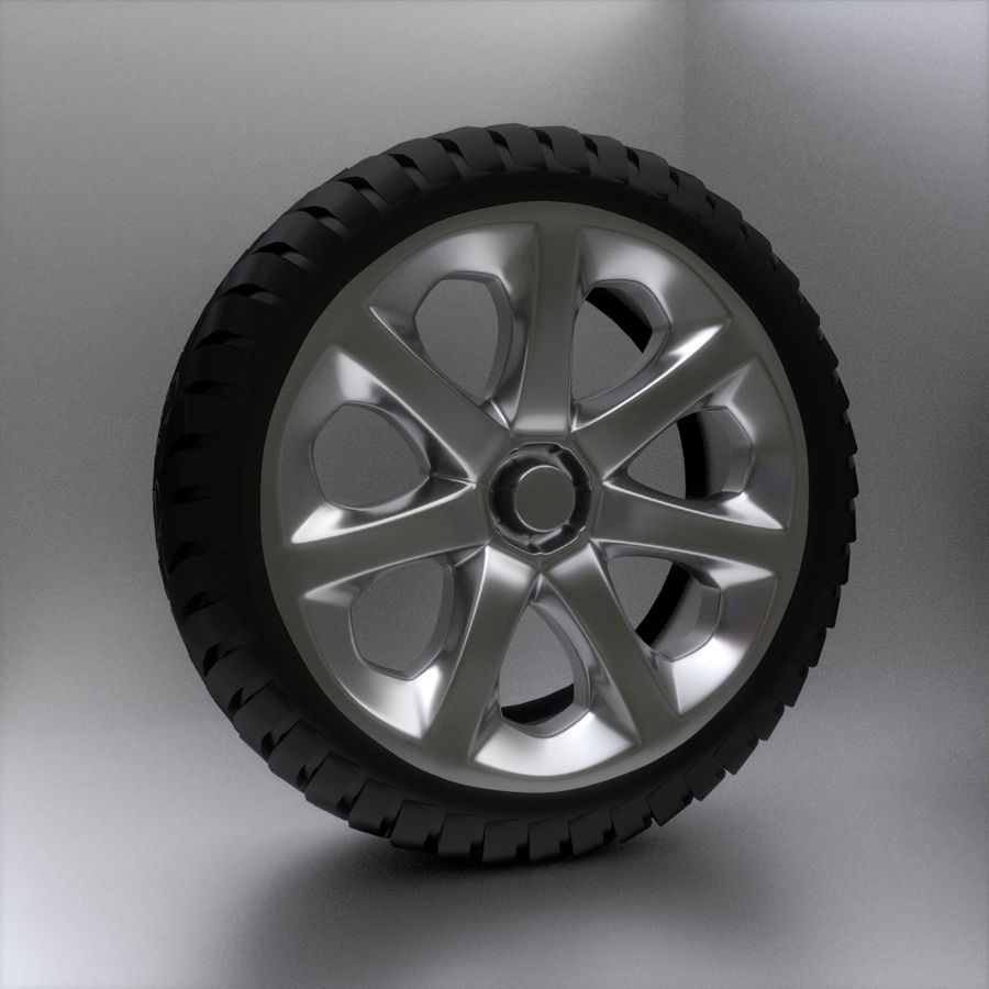 Custom Wheel - Homebrew royalty-free 3d model - Preview no. 1