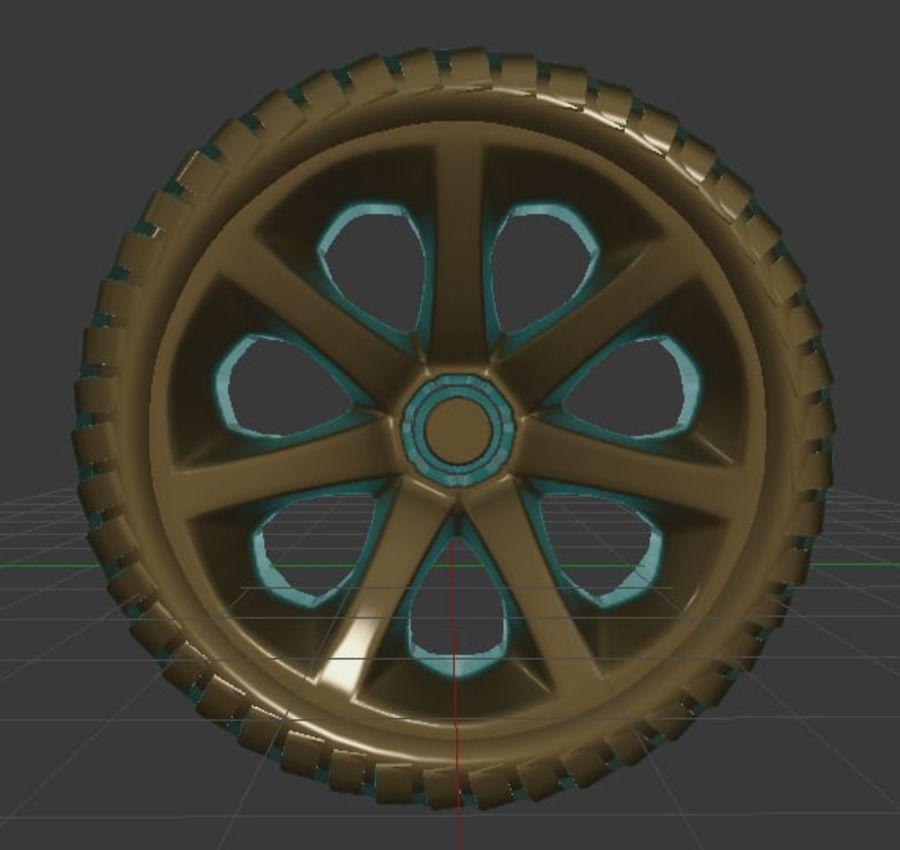 Custom Wheel - Homebrew royalty-free 3d model - Preview no. 3