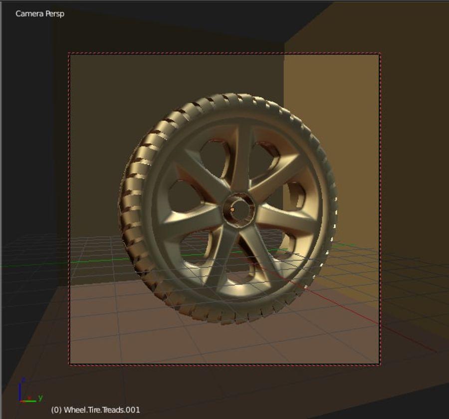 Custom Wheel - Homebrew royalty-free 3d model - Preview no. 5