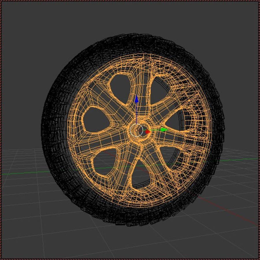 Custom Wheel - Homebrew royalty-free 3d model - Preview no. 2