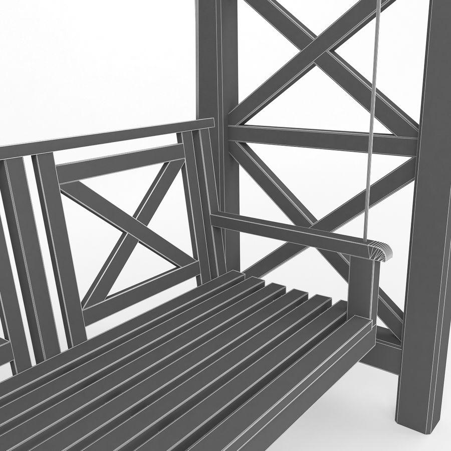 Tuin - park pergola schommel royalty-free 3d model - Preview no. 8