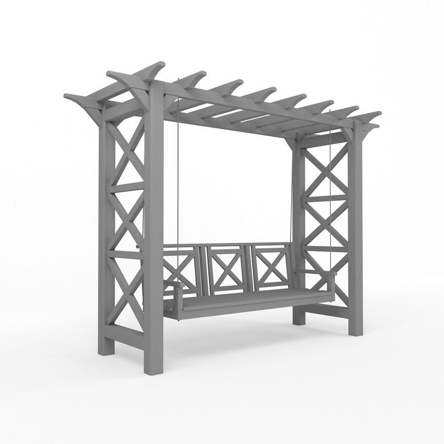Tuin - park pergola schommel royalty-free 3d model - Preview no. 5