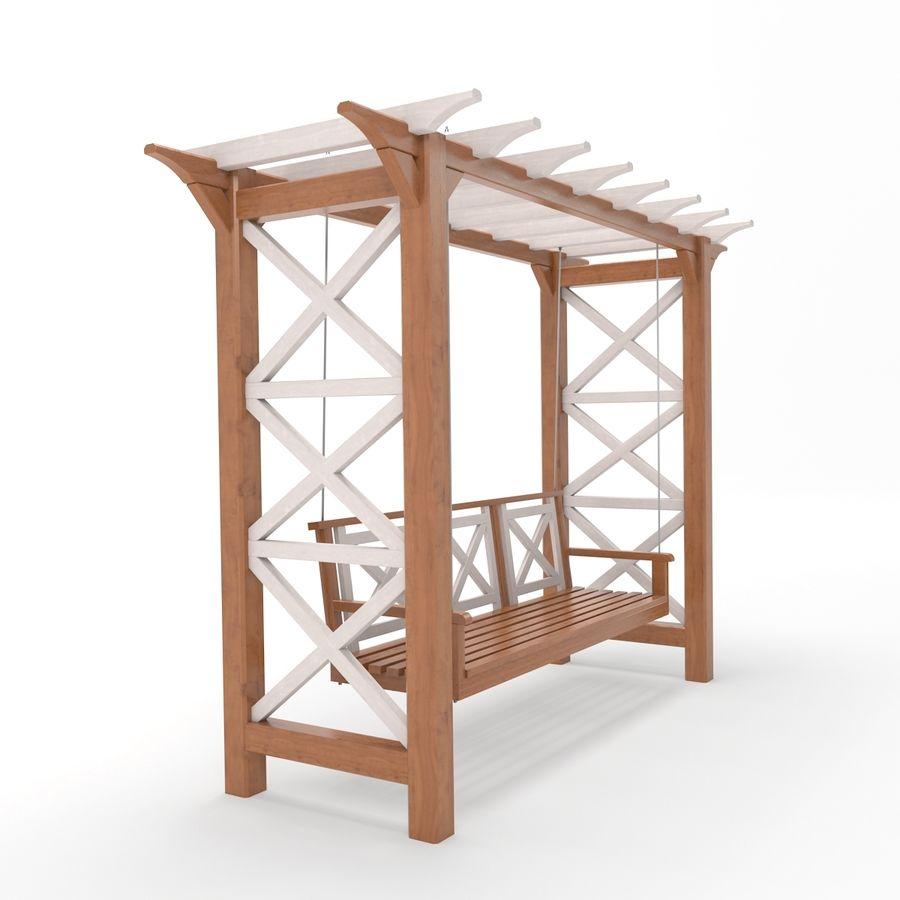 Tuin - park pergola schommel royalty-free 3d model - Preview no. 2