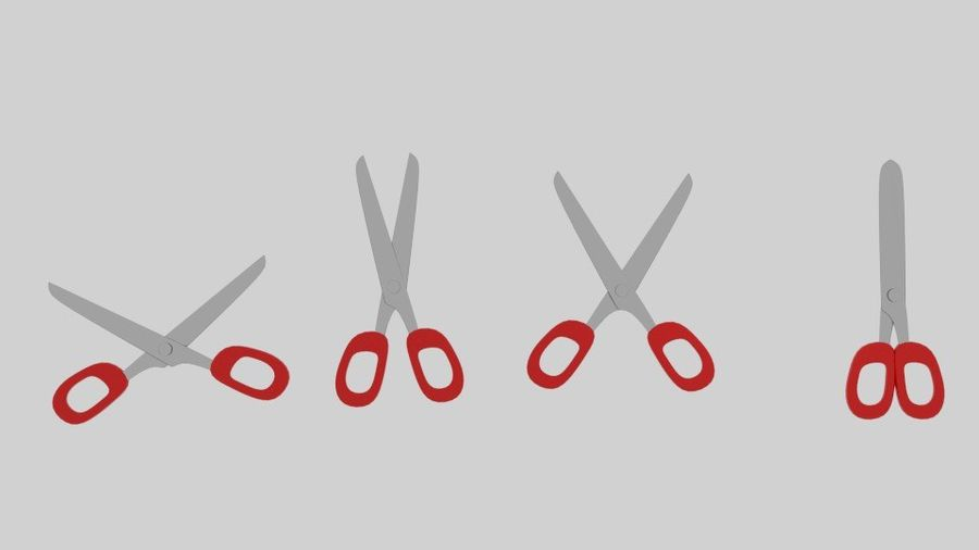 Scissor royalty-free 3d model - Preview no. 1