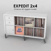 Ikea Expedit 2x4 3d model