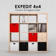 Ikea Expedit 4x4 3d model