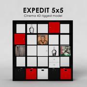 Ikea Expedit 5x5 3d model