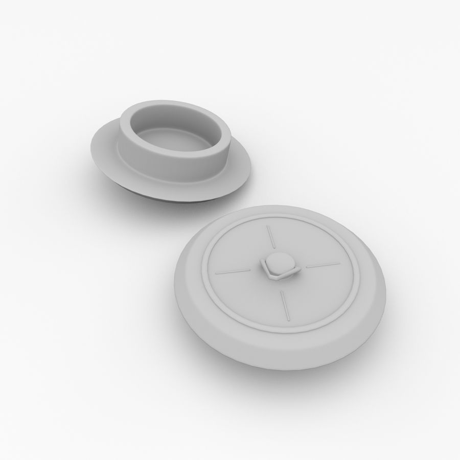 Sink Plug royalty-free 3d model - Preview no. 4