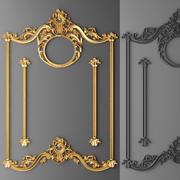 Stucco decor, frame. 3d model