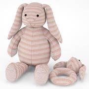 장난감 토끼 3d model