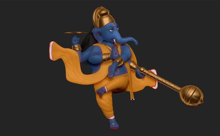 ganesha royalty-free 3d model - Preview no. 4