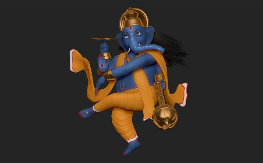 ganesha royalty-free 3d model - Preview no. 3