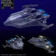 爆撃機LP 3d model