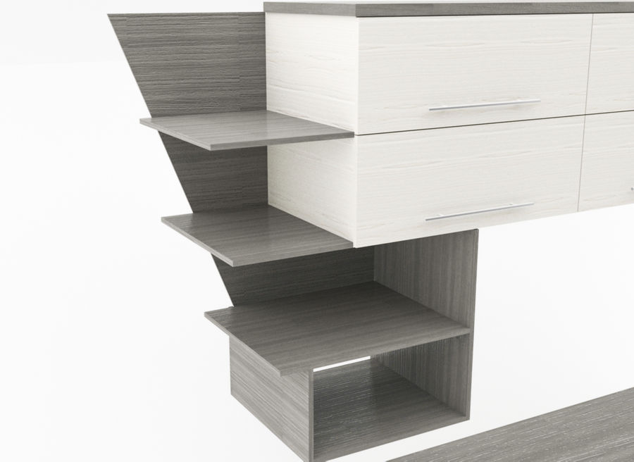 muebles para sala royalty-free modelo 3d - Preview no. 4