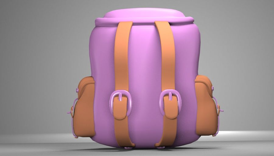 backpack royalty-free 3d model - Preview no. 5
