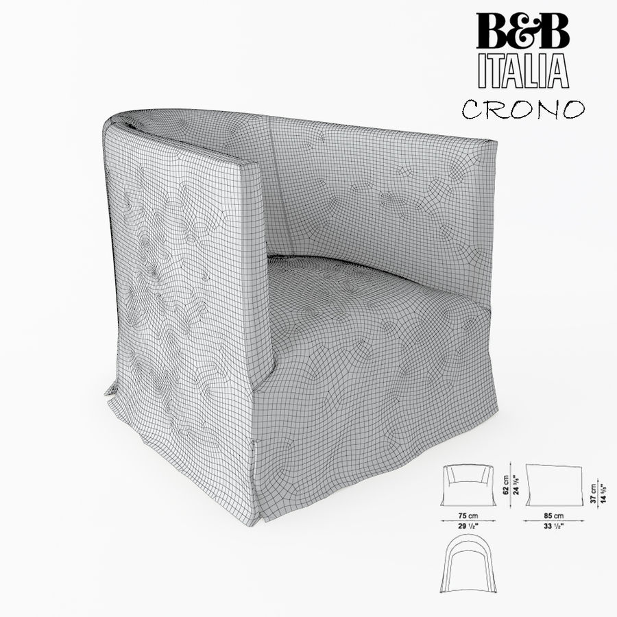 B&B Italia royalty-free 3d model - Preview no. 4