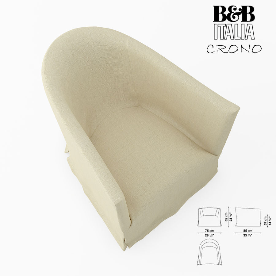 B&B Italia royalty-free 3d model - Preview no. 2
