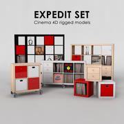 Ensemble Ikea Expedit 3d model