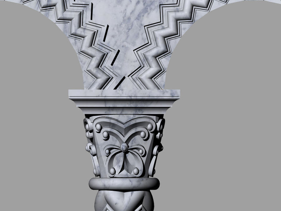 ancient columns and arches royalty-free 3d model - Preview no. 3