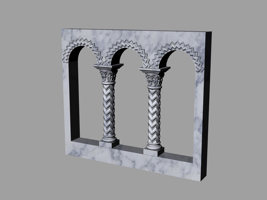 ancient columns and arches royalty-free 3d model - Preview no. 2