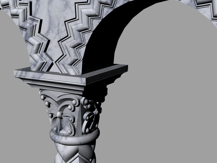 ancient columns and arches royalty-free 3d model - Preview no. 4